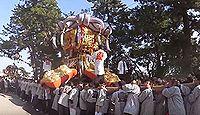 琴弾八幡宮 - 源氏の崇敬と378段の参道、大祭では9台の太鼓台が集結して勇壮さを競う
