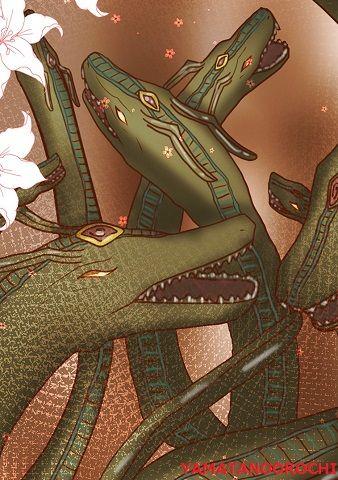 ヤマタノオロチ - 思わず泥酔して不覚を取った神【ぶっちゃけ古事記のキャラ図鑑】のキャプチャー