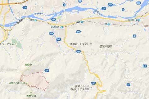 大野神社 徳島県吉野川市山川町奥野井のキャプチャー