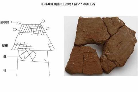 香川県で弥生時代の建物が描かれた絵画土器が出土、15年3月まで一般公開 - 県埋蔵文化財センターのキャプチャー