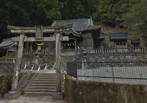 宇奈為神社 徳島県那賀郡那賀町木頭のキャプチャー