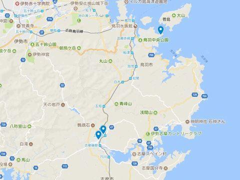 延喜式神名帳 志摩国の式内社 3座のキャプチャー