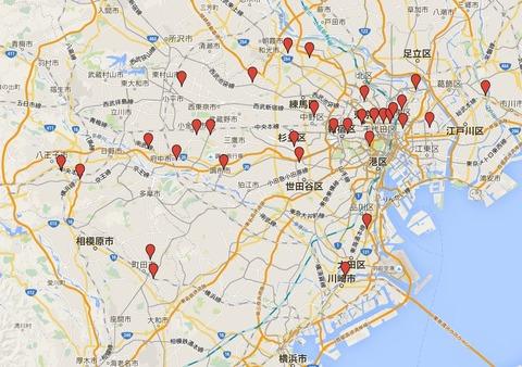 東京の天神さま32社 - 東京梅風会の会員、リアルタイムの天神信仰の拠点、有力天満宮