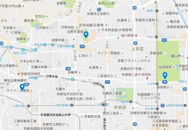 京都三珍鳥居の位置関係