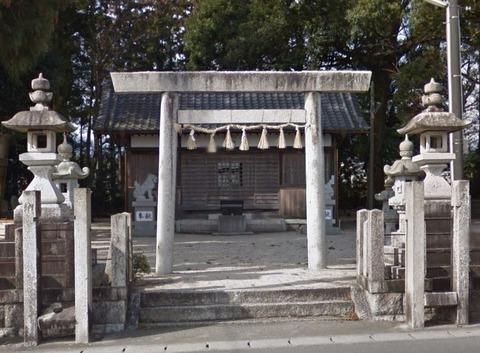 猪名部神社 三重県いなべ市大安町高柳のキャプチャー