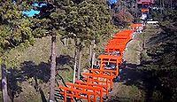 高屋敷稲荷神社 - 福島県郡山市、江戸中期に伏見稲荷を勧請、鳥居が連なる独特の景観