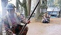 高田神社(飛騨市) - 縄文祭祀の遺跡がある、4月例祭は神楽獅子・火縄銃発砲・神輿行列