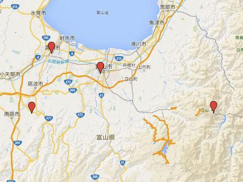 富山県の別表神社のキャプチャー