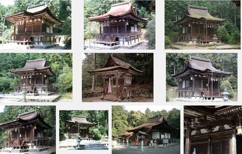 国宝「大笹原神社本殿」(滋賀県野洲市)のキャプチャー