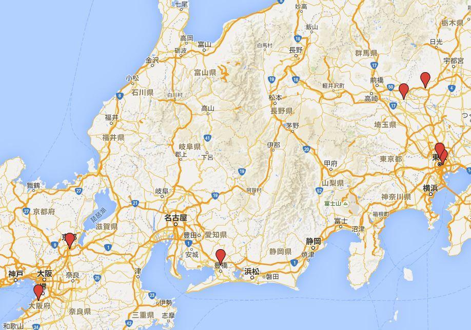 日本七社 - 主に冠稲荷神社が提唱する関東を中心とした七つの稲荷神社、日本七稲荷