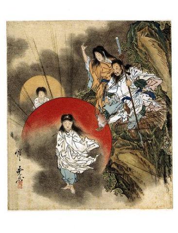 『日本神話シリーズ』神々の誕生 - イザナミとイザナギが三貴子産む スサノヲはどこ?【大古事記展】のキャプチャー