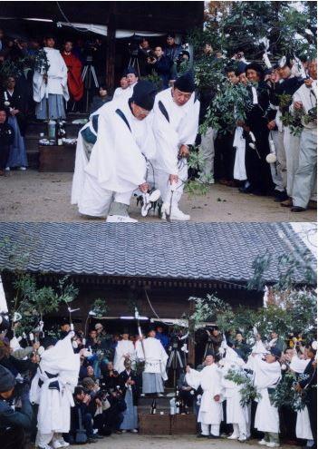 重要無形民俗文化財「樋越神明宮の春鍬祭」 - 毎年2月11日に行われる稲作の予祝行事のキャプチャー