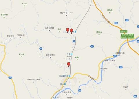 福知山市大江町の元伊勢三社のキャプチャー