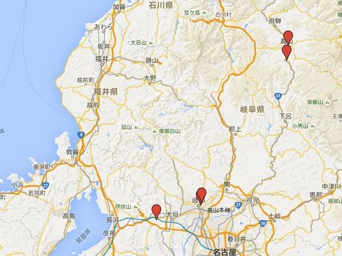 岐阜県の別表神社のキャプチャー