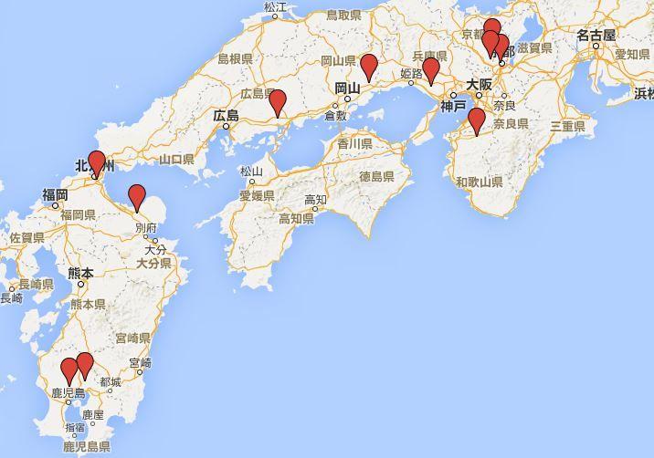和気清麻呂ゆかりの神社 - 「皇統を守護した」英雄? 西日本を中心に各地にゆかりの社