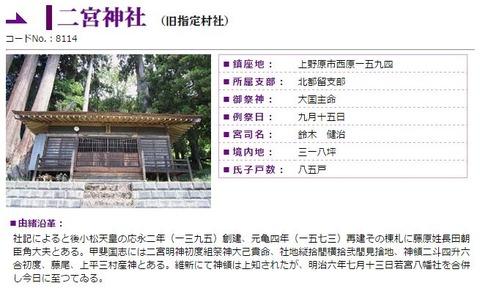 二宮神社 山梨県上野原市西原のキャプチャー