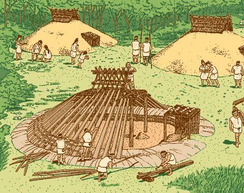 妻木晩田遺跡(鳥取県・西伯郡)より - 鳥取県立むきばんだ史跡公園