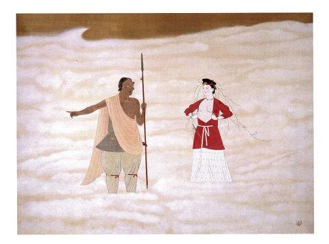 天之八衢 - 天孫ニニギの降臨で、アメノウズメが乳房露わにサルタヒコと対峙【大古事記展】のキャプチャー