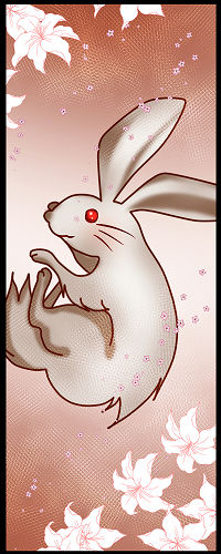 稲羽の素兎(いなばのしろうさぎ=因幡の白兎)縦500px