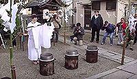 休天神社 - 明石の駅長との「一栄一落 是春秋」で知られる、座って休んだ「菅公踞石」