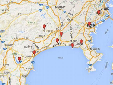 神奈川県の別表神社のキャプチャー