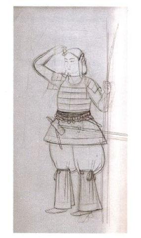 小碓皇子(下絵) - 景行天皇に命じられた熊襲建討伐前のヤマトタケルの雄姿?【大古事記展】