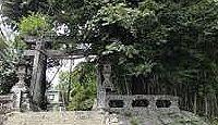 小木阿蘇神社 - 南北朝期に菊池氏により勧請・創建された小木大明神、大クスに夫婦杉