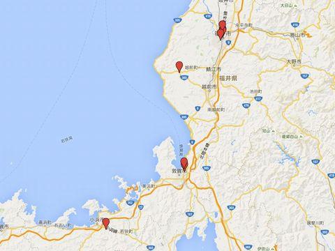 福井県の別表神社のキャプチャー