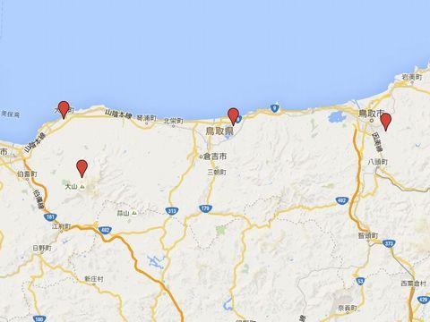 鳥取県の別表神社のキャプチャー