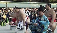 明治神宮で横綱白鵬が奉納土俵入りを披露 - 2013年1月8日、東京都渋谷区のキャプチャー