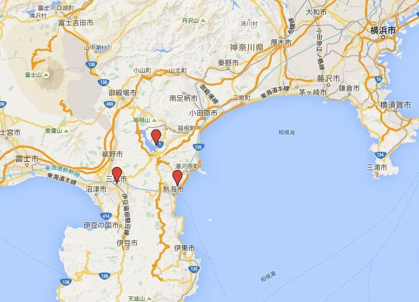 源頼朝詣 - 二社ならば伊豆山神社と箱根神社の鎌倉殿二所、三社では三嶋大社を加える