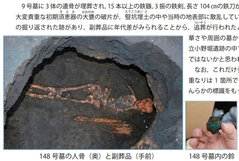 古墳時代中期(5世紀前半)青銅製の鈴10点が出土、一般公開へ - 鹿児島の立小野堀遺跡のキャプチャー