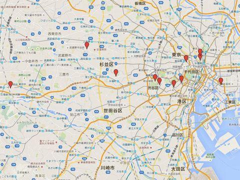 東京都の別表神社のキャプチャー