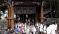 印岐志呂神社 - 天智天皇の勅願で大和三輪を勧請、頼朝・尊氏が寄進、5月にサンヤレ踊り
