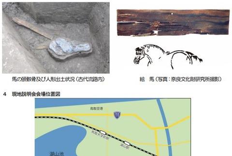 鳥取県最古の平安時代の絵馬など古代祭祀に関わる遺物が検出、現地説明会へ - 大桷遺跡のキャプチャー