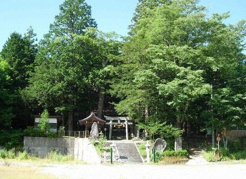 一位森八幡神社 岐阜県高山市高根町日和田のキャプチャー