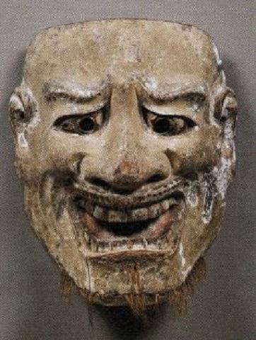 悪尉 - 談山神社の奉納能楽で今も使われる、恐ろしげな異邦的骨相の面【大古事記展】のキャプチャー