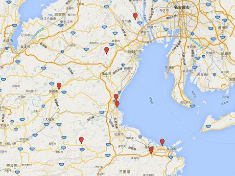 三重県の別表神社のキャプチャー