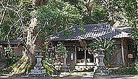 八幡宮(下田市吉佐美) - 三社一棟の本殿、それぞれが式内論社、イスノキやクスノキ