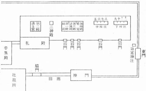熊野速玉大社の境内図 - 篠原四郎『熊野大社』