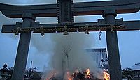 黒龍神社(舟橋町) - 九頭竜川の守護神、柴田勝家ゆかり、2月に12メートルもの左義長