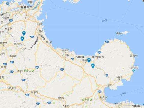 延喜式神名帳 豊前国の式内社 6座のキャプチャー