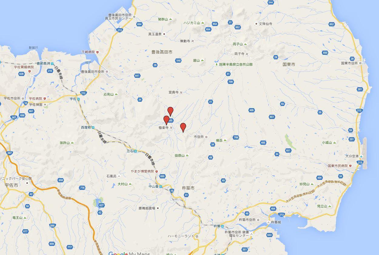 田染三社 - 大分国東半島、宇佐神宮と奈多宮のちょうど真ん中に位置、宗像三女神を分祀