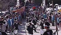 久礼八幡宮 - 海の守護神、旧暦8月の大祭は大松明「おみこくさん」、行列やけんか太鼓