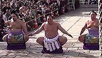 播磨国総社で横綱白鵬が奉納土俵入りを披露 - 2013年4月1日、兵庫県姫路市のキャプチャー