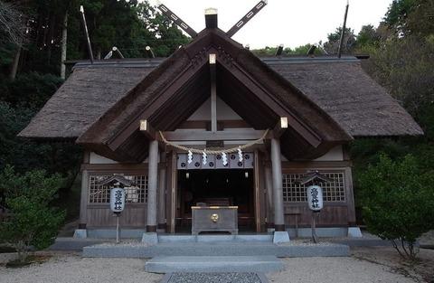 高倍神社 宮中大膳職坐神三座の一座。写真は高倍神を御祭神とする南房総市千倉町の高家神社の拝殿