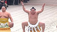 明治神宮で横綱白鵬が奉納土俵入りを披露 - 2014年1月8日、東京都渋谷区のキャプチャー