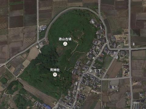 造山古墳(岡山県・岡山市) by Googleアース - ぶっちゃけ古事記
