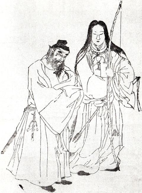 神功皇后と、建内宿禰、応神天皇