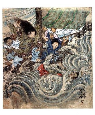 『日本神話シリーズ』海幸山幸 - まさに海幸彦が隼人舞を演じるがごとくの溺れざま【大古事記展】のキャプチャー